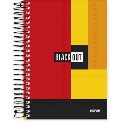 Caderno 1/4 espiral capa dura 96fls Black Out 74885 Spiral Blk PT 1 PT