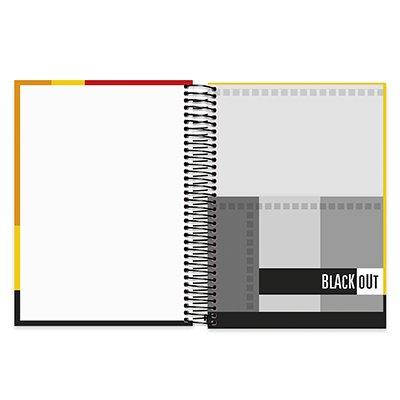 Caderno universitário capa dura 15x1 300 folhas Black Out Spiral PT 1 UN