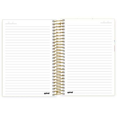 Caderno 1/4 espiral capa dura 80fls Corujinhas 211249 Spiral Cor PT 1 UN