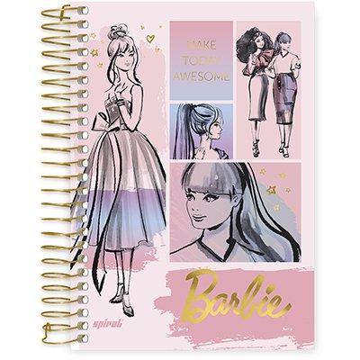Caderno 1/4 espiral capa dura 80fls Barbie 211244 Spiral Brb PT 1 UN
