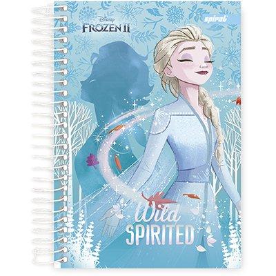 Caderno 1/4 espiral capa dura 80fls Frozen 211268 Spiral Frz PT 1 UN