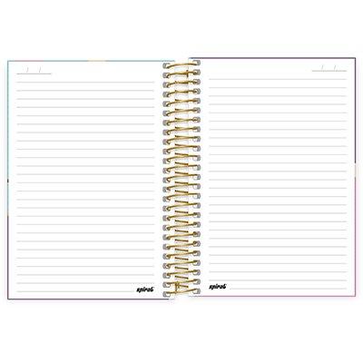 Caderno 1/4 espiral capa dura 160fls Corujinha 211347 Spiral Cor PT 1 UN