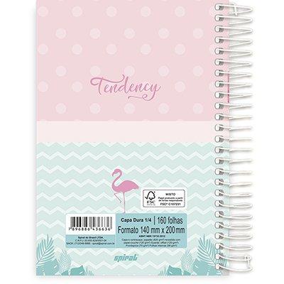 Caderno 1/4 espiral capa dura 160fls Flamingo 211400 Spiral Ten PT 1 UN