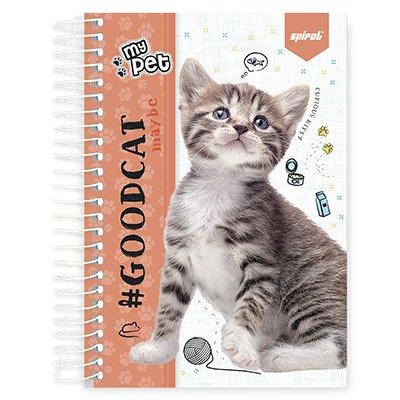 Caderno 1/4 espiral capa dura 160fls My Pet 211386 Spiral Pet PT 1 UN
