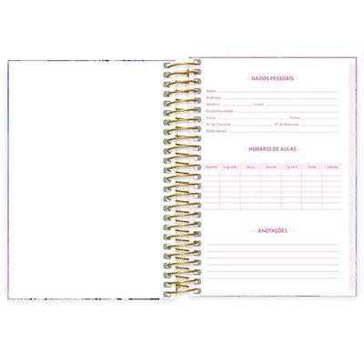 Caderno 1/4 espiral capa dura 160fls Barbie 211343 Spiral Brb PT 1 UN
