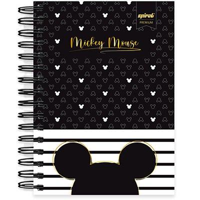 Caderno 1/4 espiral capa dura 160 fls - Disney Mickey PB - 211353 PT 1 UN