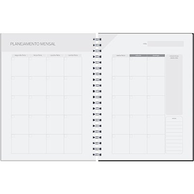 Agenda Planner Semanal 96fl 16,8x24cm Matra marrom Pombo PT 1 UN