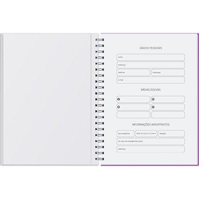 Agenda Planner semanal Pombo Collore 96 folhas 20,3x27,5cm tricolor - 722VC-001 PT 1 UN