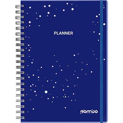 Agenda Planner semanal Pombo Collore 96 folhas 20,3x27,5cm azul - 722VC-027 PT 1 UN