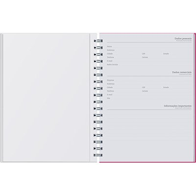 Caderno executivo 96fl 16,8x24cm Viva rosa 625VC-014 Pombo PT 1 UN