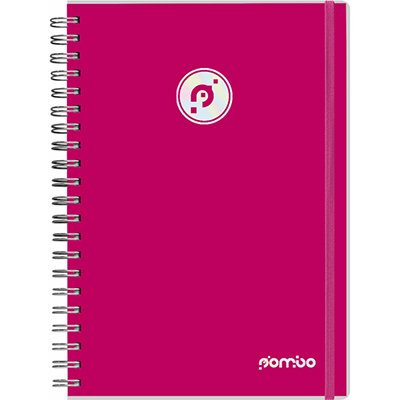 Caderno executivo 96fl 20,3x27,5cm Viva rosa 622VC-015 Pombo PT 1 UN