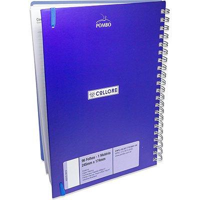 Caderno executivo 96fl 20,3x27,5cm Viva azul 622VC-024 Pombo PT 1 UN