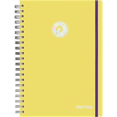 Caderno executivo 96fl 20,3x27,5cm Viva amarelo 622VC-019 Pombo PT 1 UN