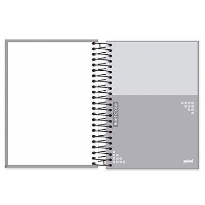 Caderno universitário capa dura 10x1 200 folhas Brief Case Cinza Spiral PT 1 UN