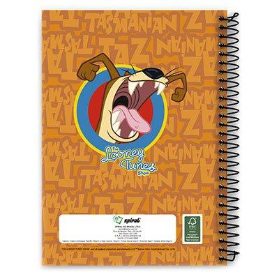 Caderno Universitário Capa Dura 1x1 96 fls Taz 09982 Spiral Lt PT 1 UN