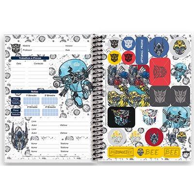 Caderno Universitário Optimus Prime - The Last Knight Capa Dura 1x1 96 fls Transformers Spiral PT 1 UN