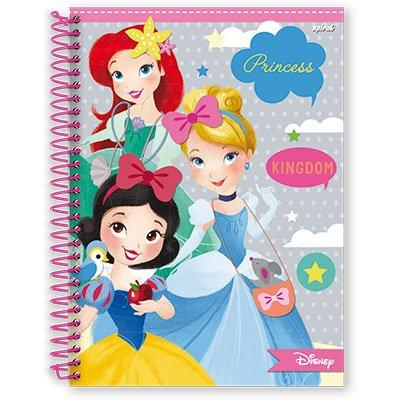 Caderno Universitário Capa Dura 1x1 96 fls Princess 12579 Spiral Pn PT 1 UN
