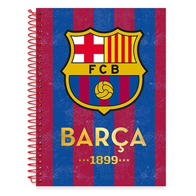 Caderno Universitário Capa Dura 1x1 96 fls Barcelona 19098 Spiral Bc PT 1 UN