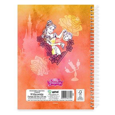 Caderno Universitário Capa Dura 1x1 96 fls Princesas 19130 Spiral Pn PT 1 UN