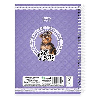 Caderno Universitário Capa Dura 1x1 96 fls My Pet 19139 Spiral Pet PT 1 UN