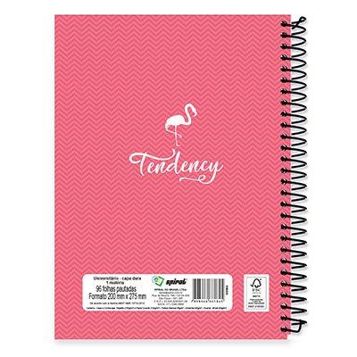 Caderno Universitário Capa Dura 1x1 96 fls Flamingo 19749 Spiral Ten PC 1 UN