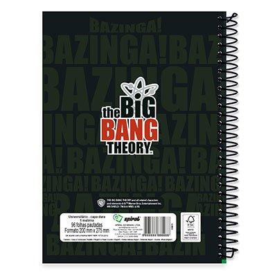 Caderno Universitário Capa Dura 1x1 96 fls Big Bang 19759 Spiral Big  PT 1 UN