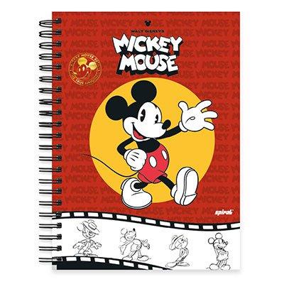 Caderno Universitário Capa Dura 1x1 96 fls Mickey 90 Anos 19727 Spiral 90  PT 1 UN