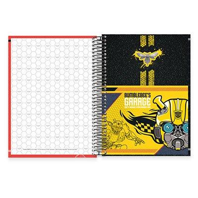 Caderno Universitário Capa Dura 10x1 200fl Transformers 19816 Spiral Trf PT 1 UN