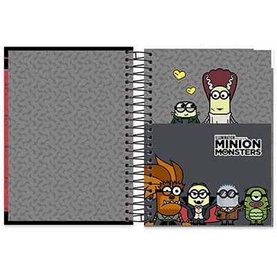 Caderno Universitário Capa Dura 10x1 200 fls Minion 19937 Spiral Mim PT 1 UN