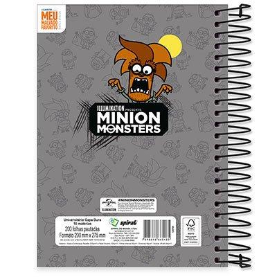 Caderno Universitário Capa Dura 10x1 200 fls Minion 19940 Spiral Mim PT 1 UN