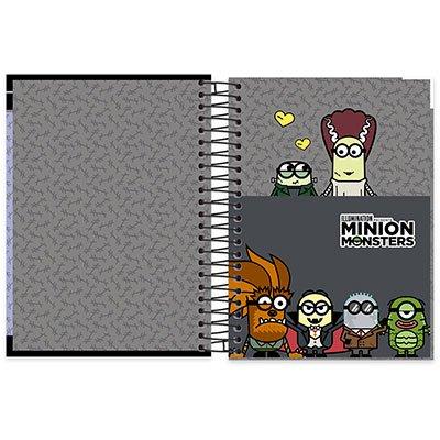 Caderno Universitário Capa Dura 15x1 300 fls Minions 19942 Spiral Mim  PT 1 UN