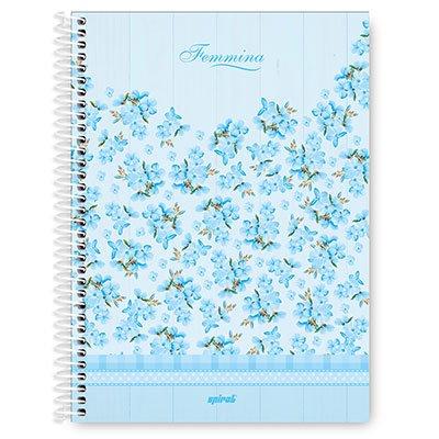 Caderno Universitário capa dura 4x1 96 fls Femmina 20064 Spiral Fem PT 1 UN