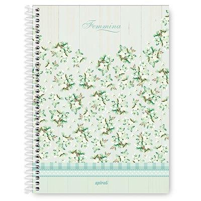 Caderno Universitário capa dura 4x1 96 fls Femmina 20065 Spiral Fem PT 1 UN