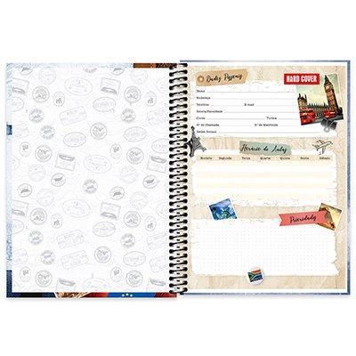 Caderno Universitário capa dura 4x1 96 fls Hard Cover 20068 Spiral Har PT 1 UN