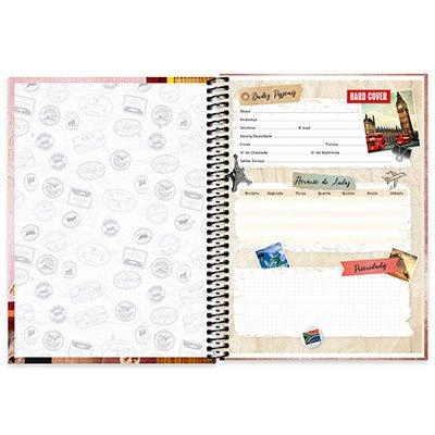 Caderno Universitário capa dura 4x1 96 fls Hard Cover 20069 Spiral Har PT 1 UN