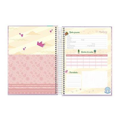 Caderno Universitário Capa Dura 10x1 200fl Sereia 20444 Spiral Ten PT 1 UN