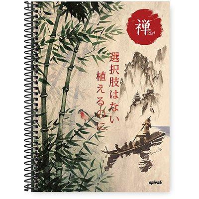 Caderno Universitário Capa Dura 1x1 96 fls Zen 20361 Spiral Zen PT 1 UN