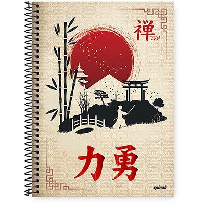 Caderno Universitário Capa Dura 1x1 96 fls Zen 20362 Spiral Zen PT 1 UN