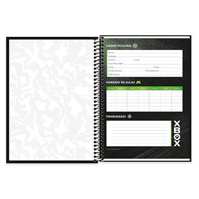Caderno Universitário Capa Dura 1x1 96 fls X Box 20360 Spiral Xbox PT 1 UN