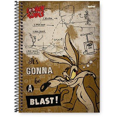 Caderno Universitário Capa Dura 1x1 96 fls Looney Tunes 20301 Spiral Lt  PT 1 UN