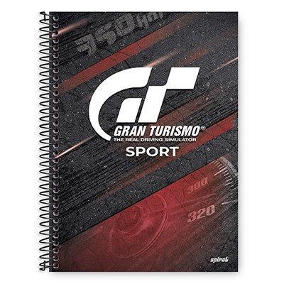 Caderno Universitário Capa Dura 1x1 96 fls Gran Turismo 20276 Spiral Gt  PT 1 UN