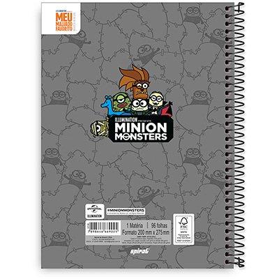 Caderno Universitário Capa Dura 1x1 96 fls Minions 20312 Spiral Mim  PT 1 UN