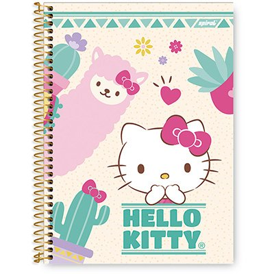 Caderno Universitário Capa Dura 1x1 96 fls Hello Kitty 20285 Spiral Hki PT 1 UN