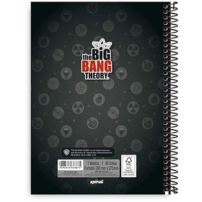 Caderno Universitário Capa Dura 1x1 96 fls Big Bang 20349 Spiral Big  PT 1 UN