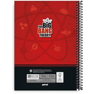 Caderno Universitário Capa Dura 1x1 96 fls Big Bang 20350 Spiral Big PT 1 UN