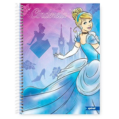 Caderno Universitário Capa Dura 1x1 96 fls Princesas 20261 Spiral Pn  PT 1 UN