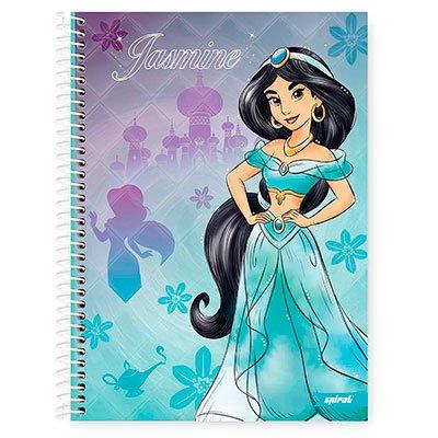 Caderno Universitário Capa Dura 1x1 96 fls Princesas 20262 Spiral Pn PT 1 UN