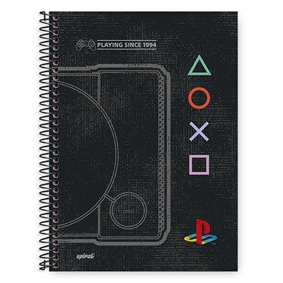 Caderno Universitário Capa Dura 1x1 96 fls Playstation 20332 Spiral Ps PT 1 UN