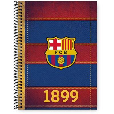 Caderno Universitário Capa Dura 1x1 96 fls Barcelona 20250 Spiral Bc PT 1 UN