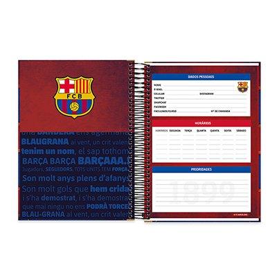 Caderno Universitário Capa Dura 15x1 300fls Barcelona 20557 Spiral Bc PT 1 UN